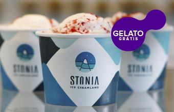 Stonia Ice Creamland com gelato grátis  🍦