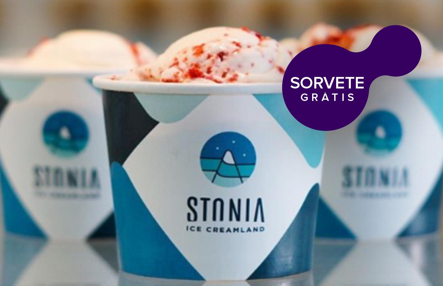 Stonia Ice Creamland com sorvete grátis  🍦